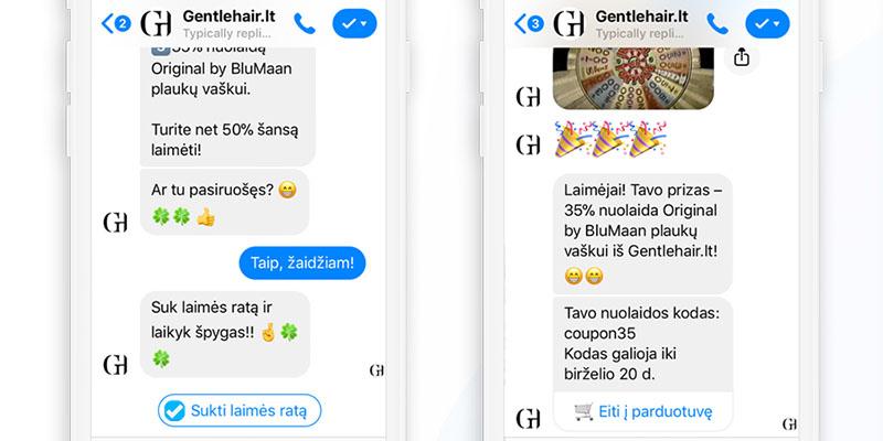 Laimės ratas Messenger