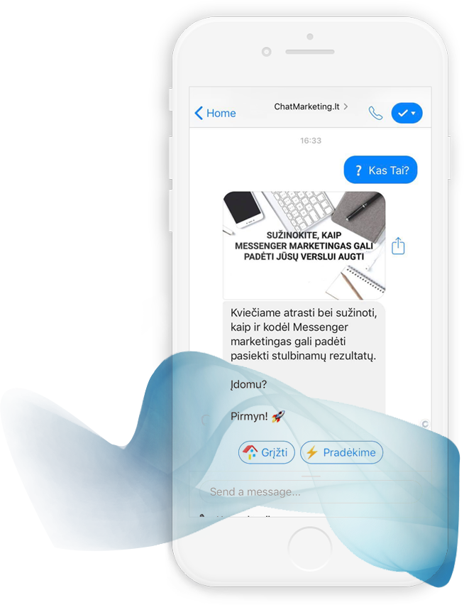 Messenger chatbot marketingas