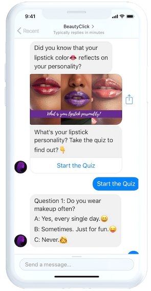 Beautyclick Messenger chatbotas
