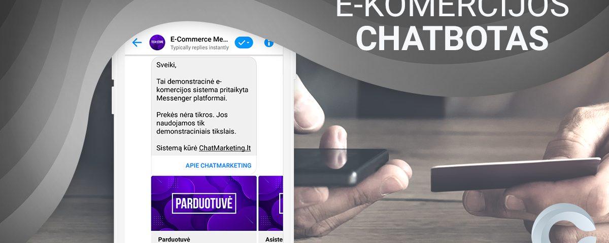 ekomercijos messenger chatbotas