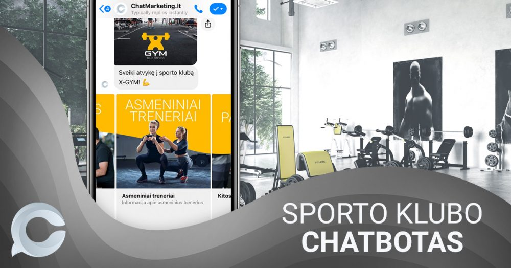 messenger chatbotas sporto klubui