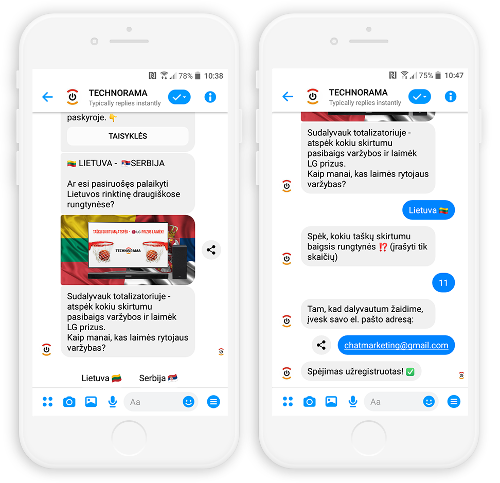 BIGBOX.LT Chatbot Messenger Marketing